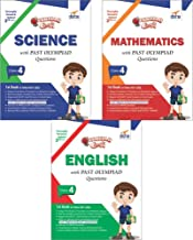 Olympiad Champs Science, Mathematics, English Class 4 with Past Questions 3rd Edition (set of 3 books)