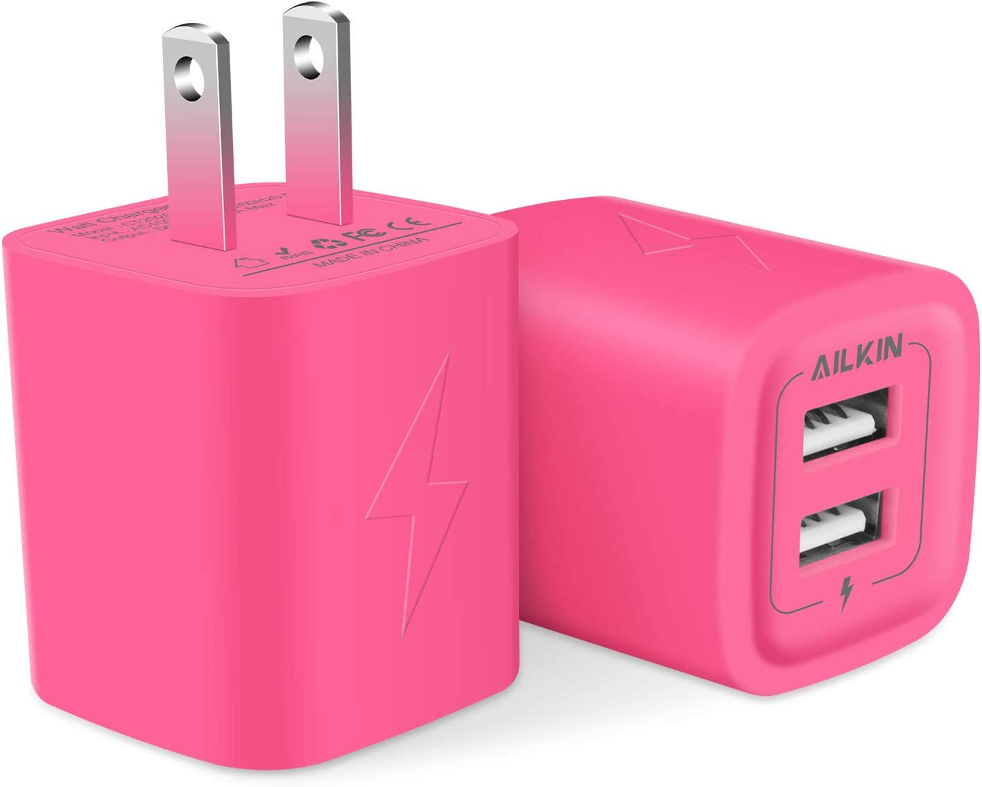 Wall Charger AILKIN USB Plug Charging Power Block Fast Adapter Fresno OFFicial Mall