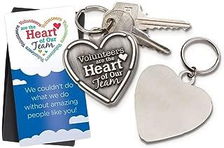 Volunteer Appreciation 5 pc. Heart Key Tag Gift Set