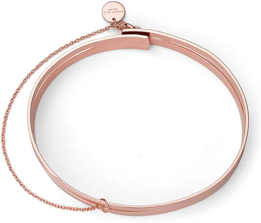 Rosefield, braccialetto per donna, in acciaio inossidabile con ip rose` JPABS-J045