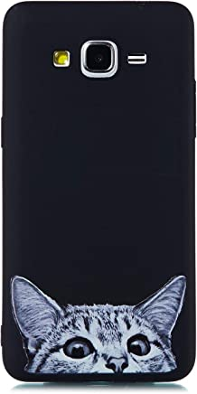9da05d99990 MOSORIS Funda para Samsung Grand Prime G530, Carcasa Dibujo Suave Negro  Silicona Matte Caso Tapa