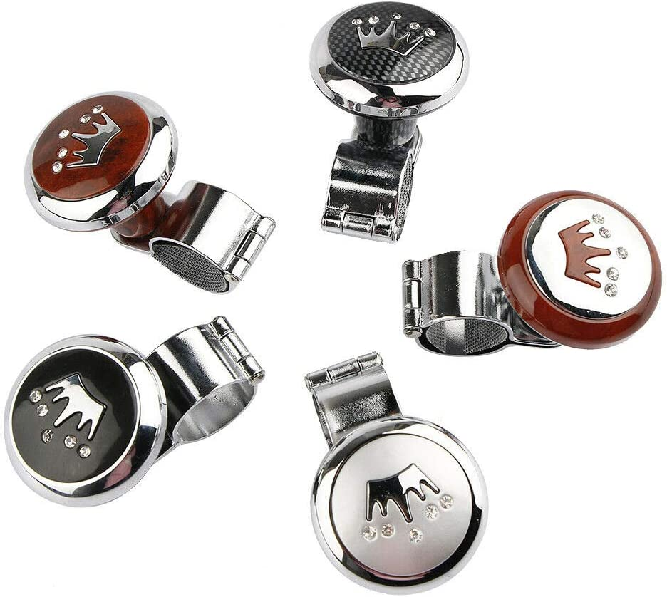 Mahogany cicisame 1pcs Crown Hickory Car Auto Lorry Steering Wheel Suicide Spinner Handle Knob Booster