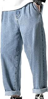 Generic11 Pantaloni Stile Harajuku Multi Stagione Jeans da Uomo Classici in Denim Pantaloni Larghi Larghi e Larghi Resiste...