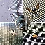 Vand Malla de alambre tejida de acero inoxidable, a prueba de insectos roedores, cubierta de ladrillo de aire, 20 cm x 30 cm, agujero de 0,9 mm, 4 hojas