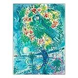 YRZYT Marc Chagall Poster Cuadros ReciéN Casados Obra De Arte ExposicióN Surrealista Pintura Moderno Pared Arte Abstractos Lienzo Cuadros Vintage Cuadro Salon HabitacióN Dormitorio Decoracion