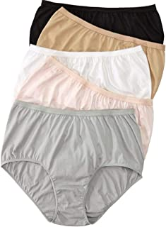 Comfort Choice Women's Plus Size 5-Pack Pure Cotton Full-Cut Brief
