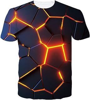 RAISEVERN T Shirt Homme Humour Imprimé 3D T-Shirt Fantaisie Manche Courte Unisexe S-XXL