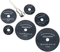 """Walmeck 6pcs High Speed HSS Circular Saw Blades Set with 1/8"""" Shank for Cutting Wood Timber and Plastic"""