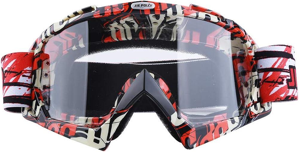 JIEPOLLY Gafas de moto antivaho UV, gafas de protección para los usuarios de gafas
