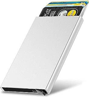 VOGARD Men's Aluminium RFID Protected Smart Wallet (Silver) (Silver)