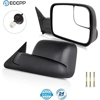 ECCPP Towing Mirror Truck Power Heated Folding Tow Rear View Mirror for 98-01 for Dodge Ram 1500 98-02 Ram 2500 3500 Pair Set