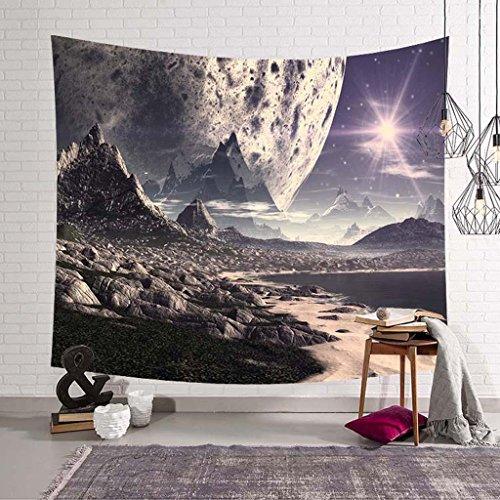 ZHOUJING Galaxy Série tapisseries Mur Couverture Serviette de Plage Assis Couverture, D, 150 * 200