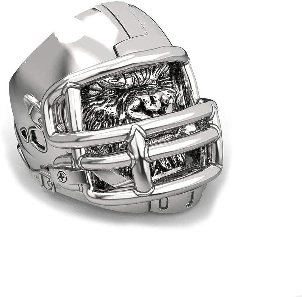 BAVAHA Stainless Steel Gorilla Ring American Football Helmet Rings
