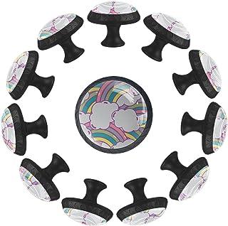 Boutons D'armoire 12 Pcs Poignés Poignée De Champignons Porte Poignées avec Vis pour Cabinet Tiroir Cuisine,Rainbow Bridge...