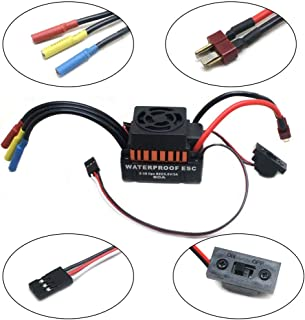 oil-LIKIO New 60A ESC Sensorless Brushless Speed Controller for 1/10 RC Car