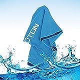 OMOTON Toalla Fría Para Todos los Deportes [Secado Rápido][Protección UV][Muy Prática ]Malla Transpirable Toalla