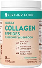 Further Food Collagen Peptides Protein Powder, Vanilla | Boosted with Beauty Mushroom | Keto, Paleo, Sugar-Free, Grass-Fed