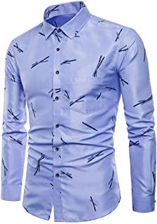 Camisas Casual Hombre Manga Larga, Covermason Los Hombres de otoño de Manga Larga de otoño se adaptan a Slim Fit tee Camis...