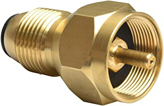 Safety Tank Fill Attachment Solid Brass Propane Refill Adapter For One Pound Tank by L.F.Z