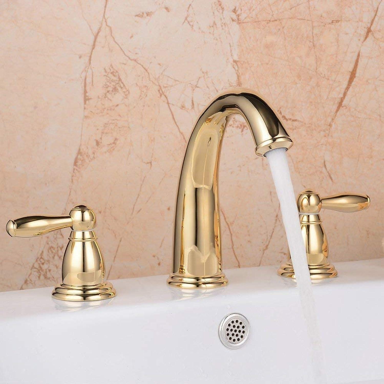 Marcu Home Zwei Griff DREI Lcher Messing WC SNK Tap, Gold