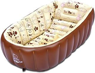 ベビーバス 折りたたみ 新生児~3歳頃まで キッズプール ベージュ ビニールプール 赤ちゃん 子供 お風呂 プール おふろ 沐浴 あかちゃん 親子 おもちゃ 1年保証で安心