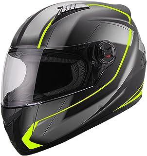 Integralhelm Helm Motorradhelm RALLOX 708 neon gelb grün schwarz matt S M L XL Größe L