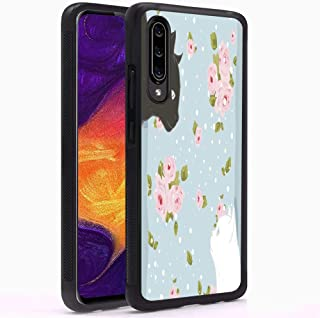 Case for Samsung Galaxy A8 - Thin Lightweight Printed Protection Cover Case, Customized Black and White Cats Soft TPU Black Skin Cover Case Compatible with Samsung Galaxy A8