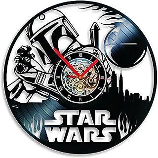 Boba Fett Vinyl Clock Boba Fett Wall Clock Record Clock Star Wars uhr Vinyl Record Clock