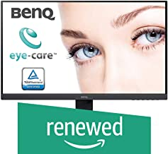 (Renewed) BenQ 27 inch (68.6 cm) Edge to Edge Slim Bezel LED Monitor - Full HD, IPS Panel with VGA, HDMI, Display, Audio in Ports and in-Built Speakers - GW2780 (Black)
