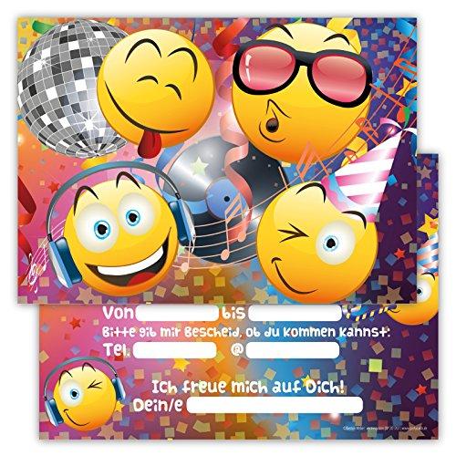 Partycards 12 Einladungskarten Kindergeburtstag für Jungen oder Mädchen Geburtstagseinladungen