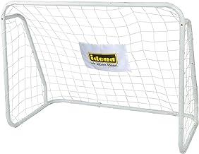 Idena 40099 - voetbaldoel van metaal met net, vanaf 6 jaar, ca. 124 x 96 x 61 cm, snelle montage, ideaal voor tuin, park, ...