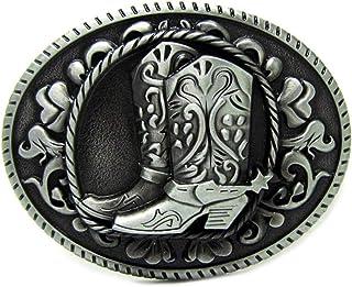 إبزيم حزام، رعاة البقر الغربية البيضاوي خمر الأحذية زهرة مشبك معدني ، اكسسوارات جينز أزياء للرجال والنساء ، مقاس 3.5 بوصة ...