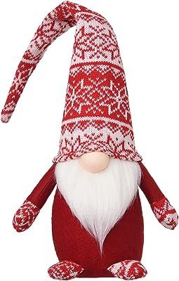 Handmade Christmas Plush Gnomes Home Tomte Gnome for All Seasons Swedish Dwarf Figurine Coffee Corner Decorations 19 Inches (Red)