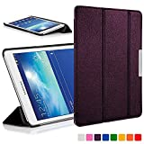 Forefront Cases Smart Hülle kompatibel für Samsung Galaxy Tab 3 Lite 7.0 T110 Hülle Schutzhülle Tasche Bumper Folio Case Cover Stand - Ultra Dünn Leicht mit R&um-Geräteschutz (VIOLETT)