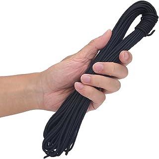 SolUptanisu Cuerdas de Arco,D Lazo de Arco de Cuerda de Arco Compuesto de Tiro con Arco Cuerda de Nylon Nock Cuerda de Liberación Segura Accesorios de Lazo D para Caza(Negro)