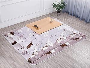 AntiGnor 2020 New Kotatsu Table Nordic Design Solid Oak Wood Japanese Furniture for Living Room Casual Heated Center Tea Tatami Table (Color : Natural Set)