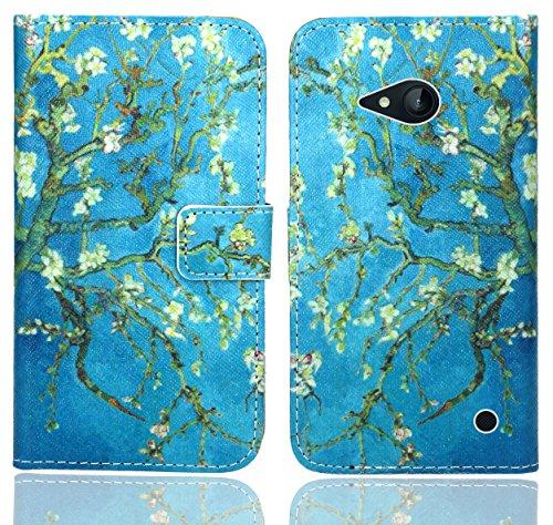 FoneExpert® Nokia Lumia 735 730 Handy Tasche, Wallet Hülle Flip Cover Hüllen Etui Ledertasche Lederhülle Premium Schutzhülle für Nokia Lumia 735 730 (Pattern 8)