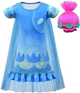 Disfraz de amapola para niñas de Trolls Princess 2
