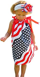 First 4th of July Newborn Baby Baby Dress Clothes Sundress Independence Day Resurgence Infant Kids Casual Dresses nikunLONG