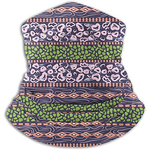 Neck Warmer Neck Gaiter African Ethnic Design Violet Purple Dots Outdoor Headwear Guêtres Unisex