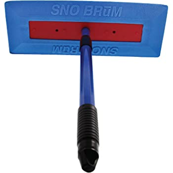 """SNOBRUM – The Original Snow Broom and Snow Remover for Cars and Trucks – 28"""" Extendable Handle, Push-Broom Design - Safe Winter Snow Removal for Your Vehicle Without Paint Scratching"""