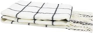 DAZCOS Plaid Scarf Winter Warm Unisex Soft Black Striped Anime Natsu Scarfs
