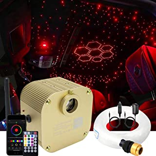 AZIMOM LED فیبر نوری ستاره سقف کیت نور 16W Twinkle RGBW موتور درایو با RF 28 کلید از راه دور برای دکوراسیون داخلی ماشین داخلی 450 قطعه 0.03 در 9.8 فوت