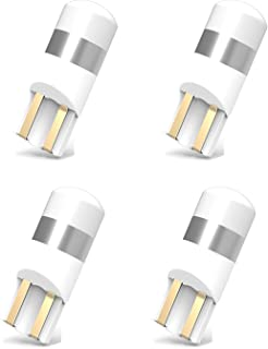 194 168 LED Bulb, 360 Degree 400 Lumens Extremely Bright 3030 Chipsets 194 168 T10 175 2825 LED Bulbs for Map Door Dome Glove Compartment Trunk License Plate Lights, White (4Pcs)