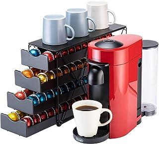 Bagoo Support à dosettes de café pour tiroir Nespresso Vertuoline à plusieurs étages pour rangement de capsules Vertuo (4 ...