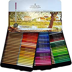 72 RICHLY SATURATED PIGMENTS: for adult crafts, kids coloring books. SF 72 colored pencils have soft, break-resistant 3.3mm core that gives you even color lay down ARTIST QUALITY COLORED PENCILS: soft color pencil set cores are perfect for shading an...