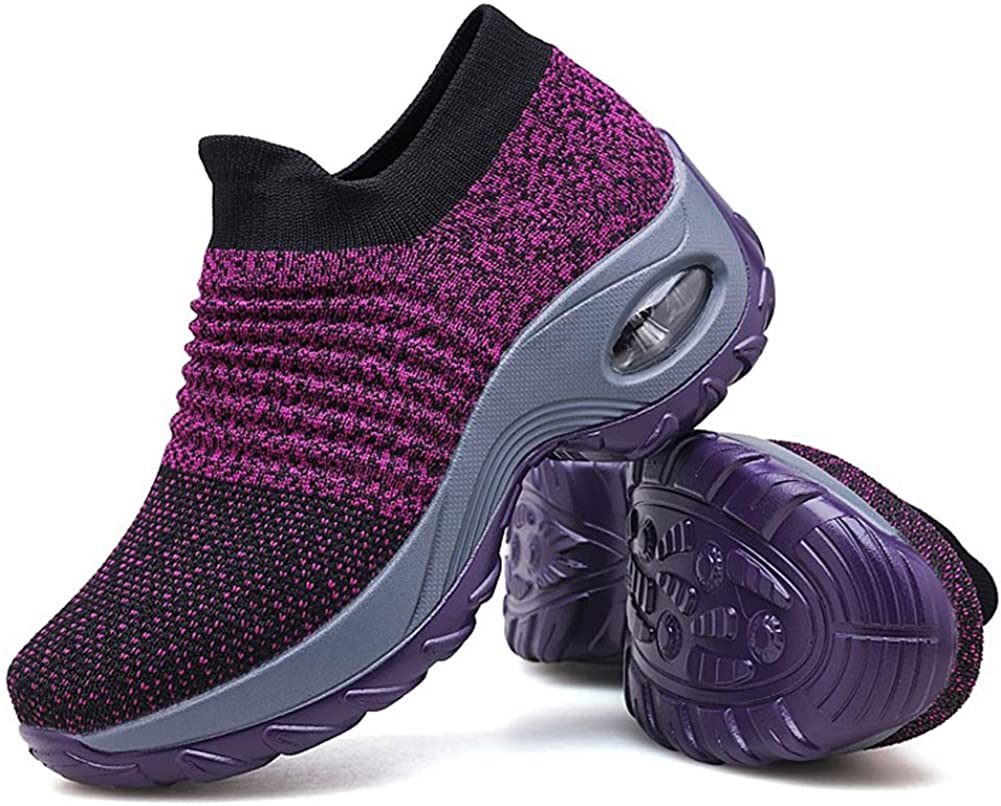 Women's Walking Shoes Sock Sneakers - Mesh Slip On Air Cushion L