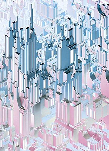 Komar - fotobehang DUPLEX - 184 x 254 cm - behang, muur decoratie, stad, abstract, Skyline, 3D, Downtown, Design - 4-209