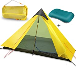 OLUNNA 1-Person Tent Backpacking with 1 Pack Inflatable Camping Pillow, Lightweight Tent Waterproof with Double Layer for Mountaineering, Hiking, Camping, Climbing(Trekking Pole is NOT Included)
