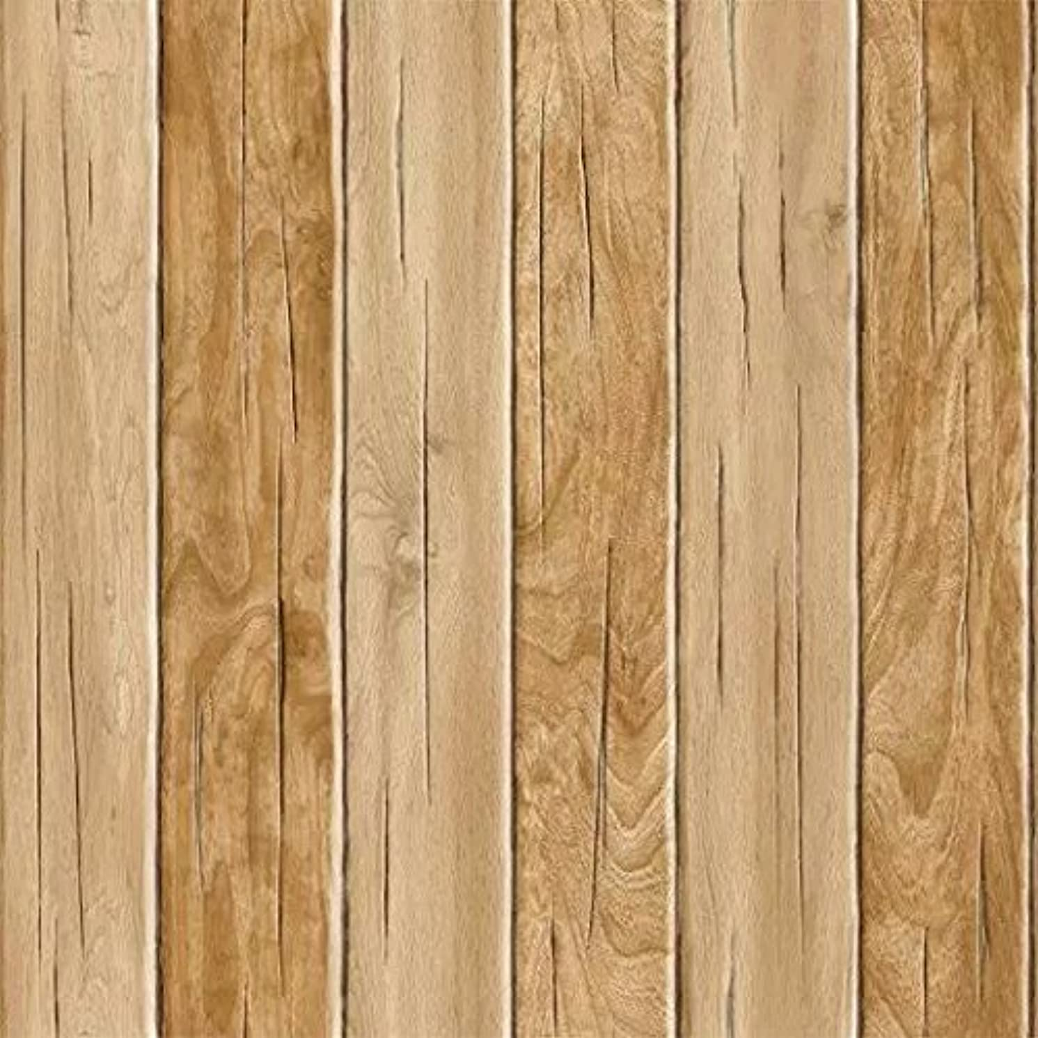 Blooming Wall Vintage Wood Plank Wood Panel Wallpaper Wall Mural For Livingroom Kitchen Bathroom, 20.8 In32.8 Ft=57 Sq.ft (8-66021)